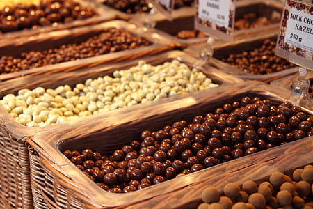 closeup photo of fruits in brown wicker baskets