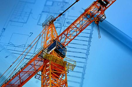 orange and black industrial crane