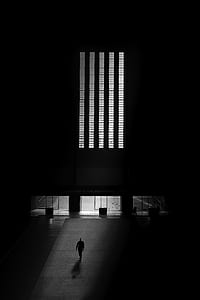 man walking in room