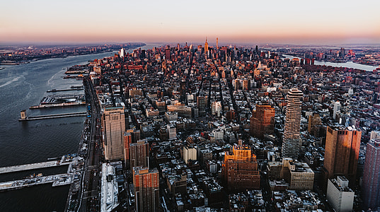 aerial view of City buildings photography