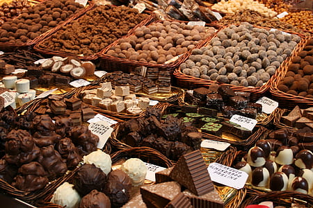 photo of varieties of chocolates