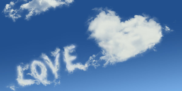 Love clouds wallpaper