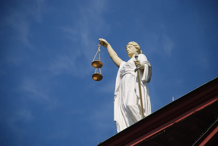 photo of Lady Justice statue
