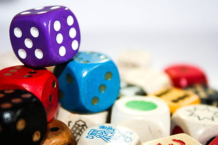 selective focus photography of dice