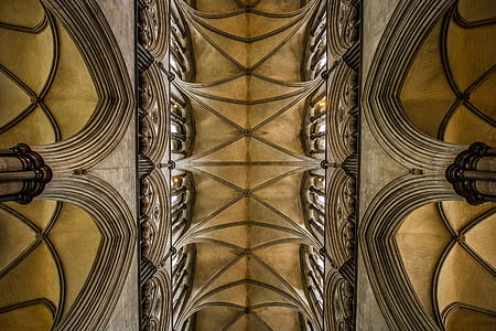 salisbury, architecture, cathedral, church, the ceiling of the, monument