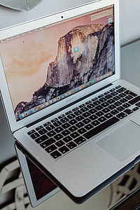 Silver Apple MacBook