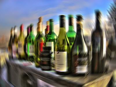 assorted-labeled bottle lot