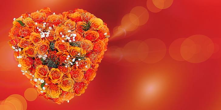 close-up photo of orange flower bouquet