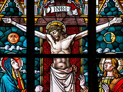 crucifix glass mosaic