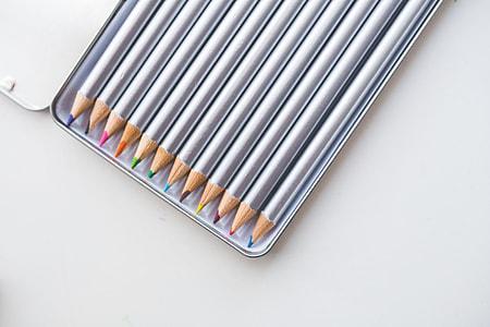 Colored Pencils in Box
