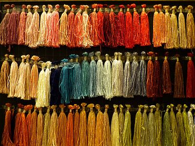 assorted-color tassel lot