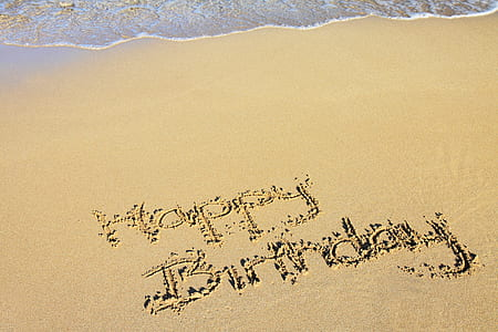 Happy Birthday sand art