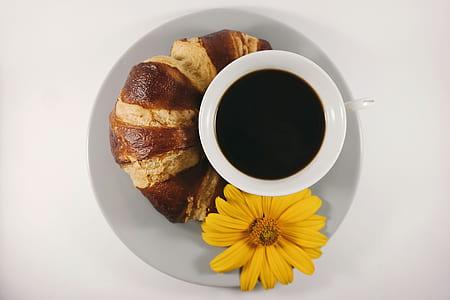 round white ceramic bowl filled with black liquid