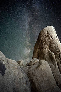 photo of Milky Way Galaxy above stones