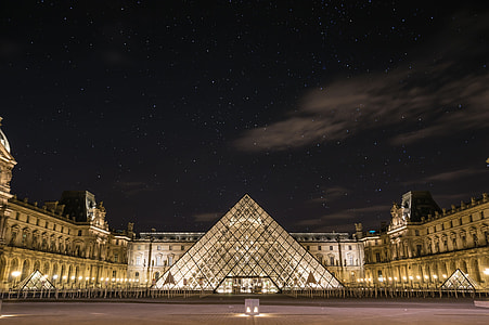 Louvre Museum during nighttime