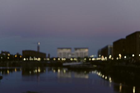 bokeh photo of buildings