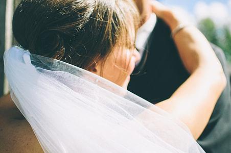 women's white veil