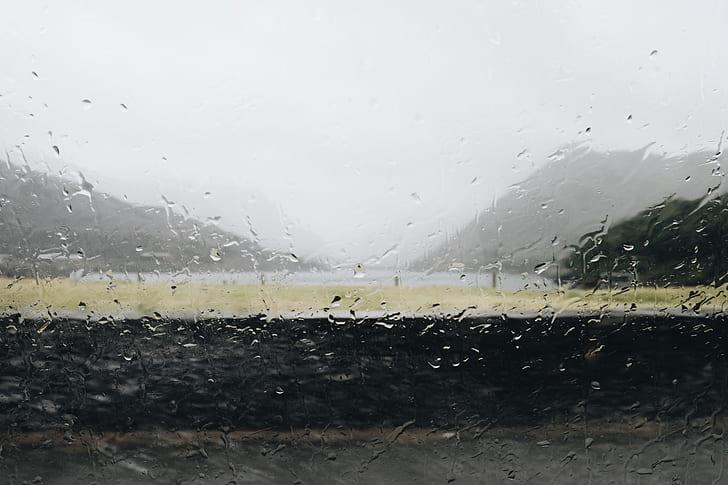wet window, rain on window, rain, storm, wet