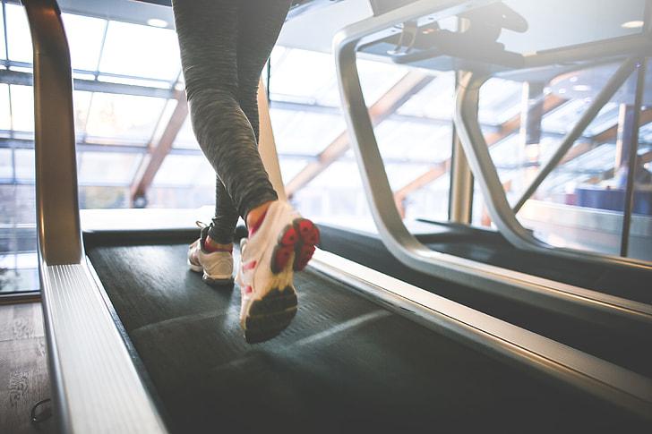 Royalty-Free photo: Black exercise treadmill | PickPik