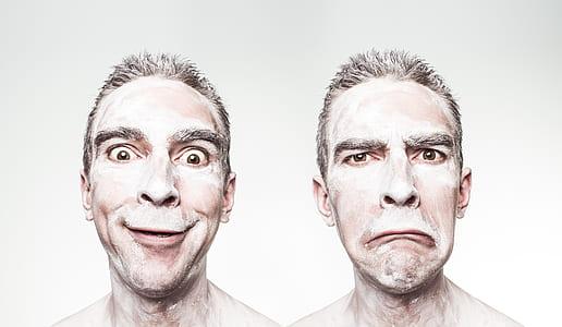 man making faces