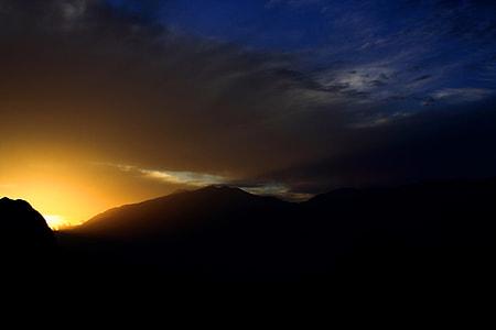 untitled, mountain, light, sunset, cloud, twilight
