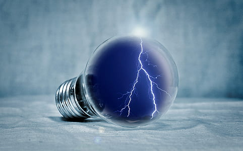 lightning light bulb