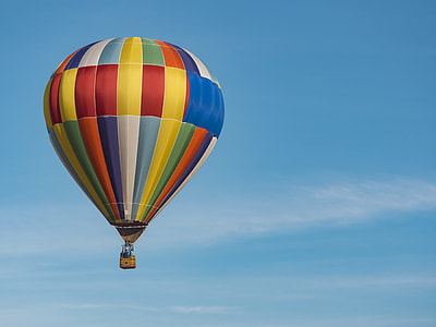 focus photography of hot-air balloon