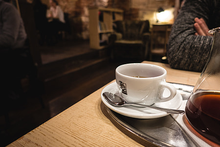 Filtered coffee in a cozy café
