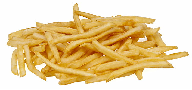 french fries with white background