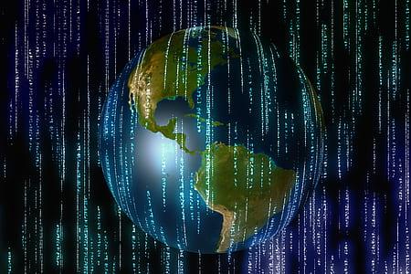 earth globe graphic wallpaper
