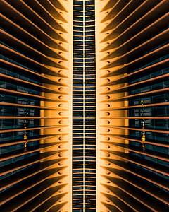 building, architecture, design, modern, orange