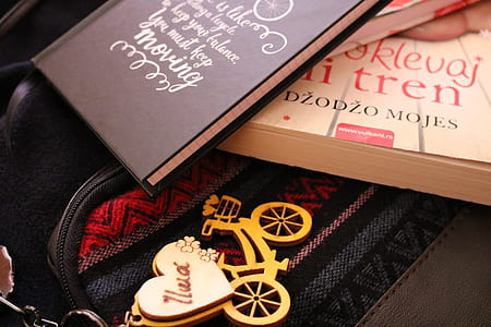 Photograph of Two Books on top of the Bag