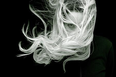 woman in black shirt