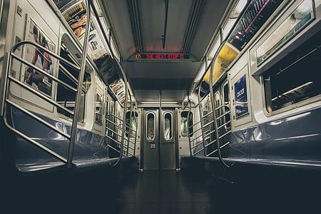 photo of train inside
