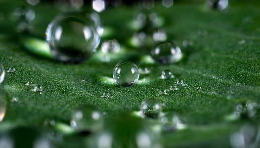 water macro droplets