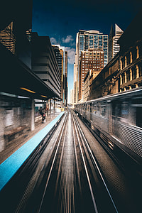 train station in time lapsed photography