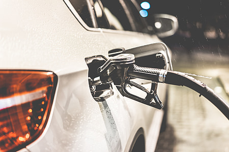 Fueling Up a Car at a Petrol Station