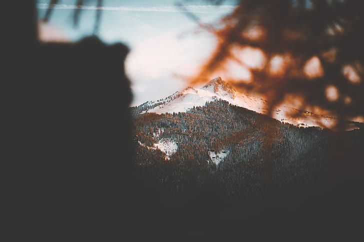 mountain with snow