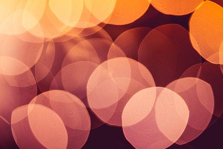 Real Orange Abstract Bokeh Lights