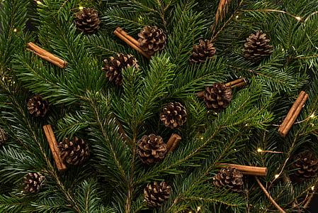 brown acorn ornament lot