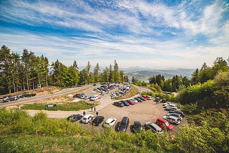 Wörthersee Treffen (car meet) Pyramidenkogel Parking