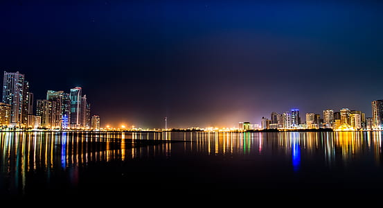 High Rise Buildings Across Body of Water