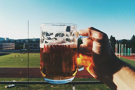 Having a beer outside