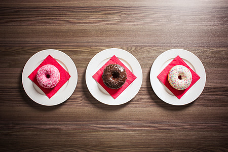Three Sweet Donuts
