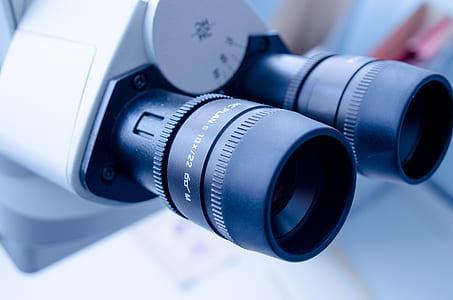 black and white microscope lenses