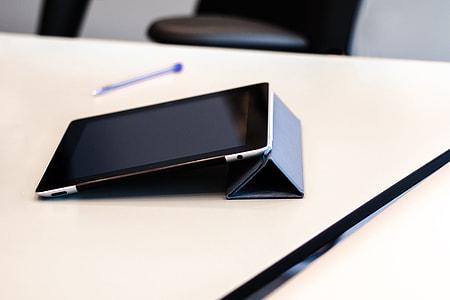 iPad tablet computer on office desk