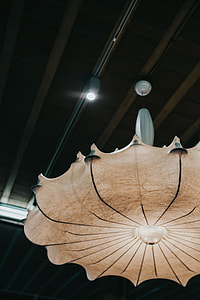 Light and lamps at an exhibition