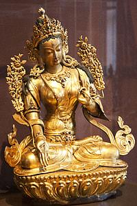 gold religious figure