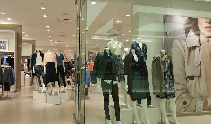 mannequins with clothes display inside a mall