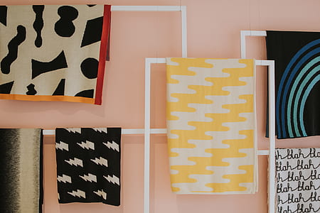 assorted-color textiles